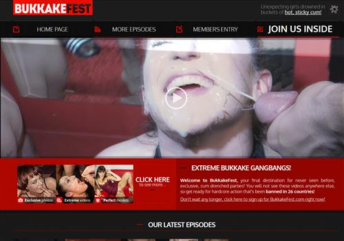 Top new facials porn paysite Bukkake Fest